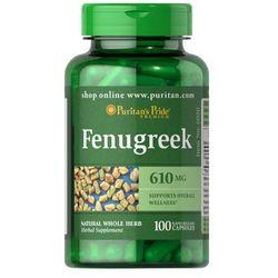 Puritan's Pride Fenugreek (Kozieradka) 610mg 100 kaps.