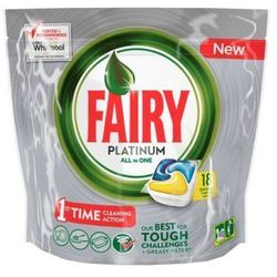 FAIRY 18szt Platinum All in One Lemon Tabletki do zmywarki