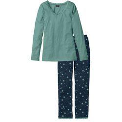 Piżama bonprix niebieskozielono - ciemnoniebieski z nadrukiem