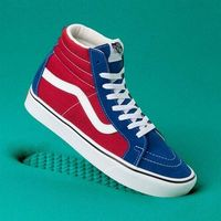Męskie obuwie sportowe, buty VANS - Comfycush Sk8-Hi Reissue (Two-Tone)Tr Bl/Chli Pepr (VX5) rozmiar: 44