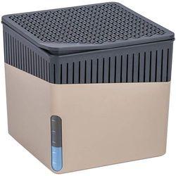 Pochłaniacz wilgoci Cube 1 kg, osuszacz powietrza na powierzchnię 80 m3, zapobiega rozwojowi pleśni, grzybów, wymienne wkłady, kolor beżowy, WENKO