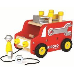 Ciężarówka z narzędziami do ciągnięcia Bricolo, Janod J06490