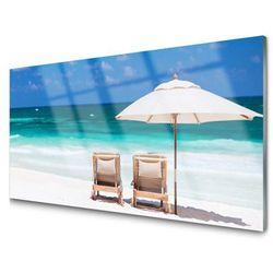 Obraz Akrylowy Plaża Parasol Krajobraz