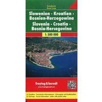 Mapy i atlasy turystyczne, Słowenia Chorwacja Bośnia i Hercegowina. Mapa 1:500 000 (opr. twarda)