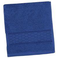 Ręczniki, Bellatex Ręcznik kąpielowy Kamilka Pasek ciemnoniebieski, 70 x 140 cm