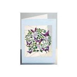 Karnet fioletowe motyle pm917 wycinany + koperta