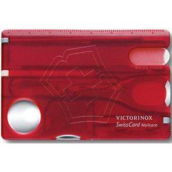 Niezbędnik VICTORINOX SwissCard Nailcare 0.7240.T Czerwono-srebrny