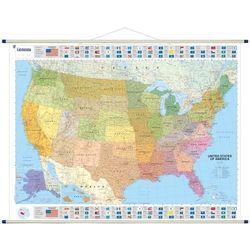 Stany Zjednoczone mapa ścienna 1:3 450 000